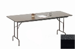 "Correll CF2460M 07 Melamine Folding Table w/ 5/8"" High Density Top, 24 x 60"", Black Granite"