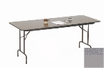 "Correll CF3048M 15 Melamine Folding Table w/ 5/8"" High Density Top, 30 x 48"", Gray Granite"