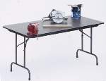 Correll CF3060M 01 Folding Table w/ Walnut Melamine Top, 30 x 60""