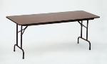 Correll CF3672M 01 Folding Table w/ Walnut Melamine Top, 36 x 72""