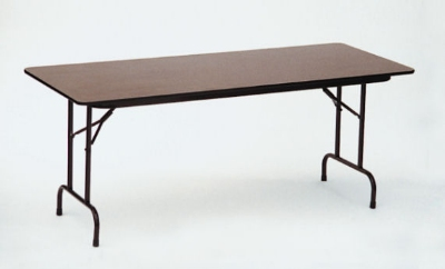 Correll CF3696M 01 Folding Table w/ Walnut Melamine Top, 36 x 96-in