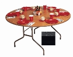 "Correll CF60MR 07 60"" Round Melamine Folding Table w/ 5/8"" High Density Top, Black Granite"