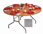 "Correll CF48MR 15 48"" Round Melamine Folding Table w/ 5/8"" High Density Top, Gray Granite"