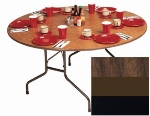 "Correll CF48P 01 48"" Round Folding Table w/ 5/8"" High-Pressure Top, Walnut"