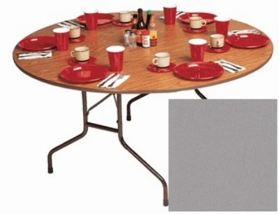 "Correll CF48P 13 48"" Round Folding Table w/ 5/8"" High-Pressure Top, Dove Gray"