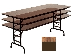 "Correll CFA3048PX 06 Folding Table w/ .75"" High-Pressure Top, Adjustable Height, 30 x 48"", Oak"
