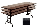 "Correll CFA2460PX 07 Folding Table w/ .75"" Top, Adjustable Height, 24 x 60"", Black Granite"
