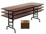 "Correll CFA3096M 06 Melamine Folding Table w/ 5/8"" Top, Adjustable Height, 30 x 96"", Medium Oak"