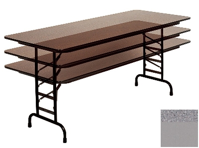 Correll CFA2460M 15 Melamine Folding Table, 5/8-in Top, Adjustable Height, 24 x 60-in, Gray Granite