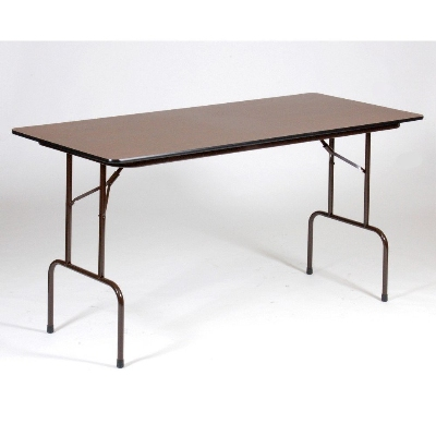 "Correll CFS3072M Counter Height Work Table, 5/8"" Pressure Top, 30 x 72"", 36"" H, Walnut/Brown"