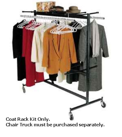 Correll COAT RACK KIT 09 Coat Rack Kit For Up To 84 Coats, Black