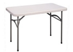 "Correll CP2448 33 Folding Economy Table, 24 x 48"", Blow-Molded, Gray Granite"
