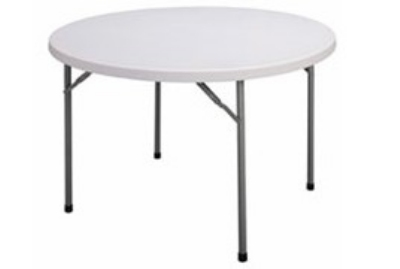 "Correll CP72 33 Round Folding Economy Table, 71"", Blow-Molded, Gray Granite"