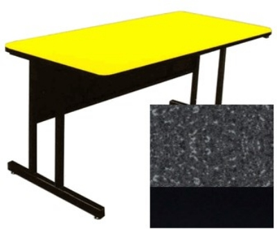 "Correll CS3060 07 26"" Desk Height Work Station w/ 1.25"" Top, 30 x 60"", Black Granite/Black"
