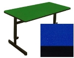 "Correll CSA2460 27 Desk Height Work Station, 1.25"" Top, Adjust to 29"", 24 x 60"", Blue/Black"