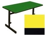 "Correll CSA2436 28 Desk Height Work Station, 1.25"" Top, Adjust to 29"", 24 x 36"", Yellow/Black"