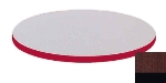 "Correll CT24R 21 24"" Round Cafe Breakroom Table Top, 1.25"" High Pressure, Cherry"