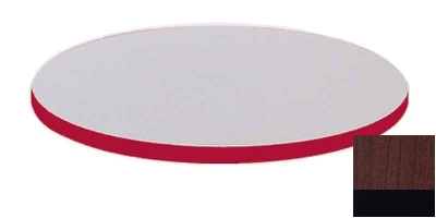 Correll CT24R 21 24-in Round Cafe Breakroom Table Top, 1.25-in High Pressure, Cherry