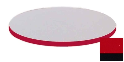 "Correll CT30R 25 30"" Round Cafe Breakroom Table Top, 1.25"" High Pressure, Red"