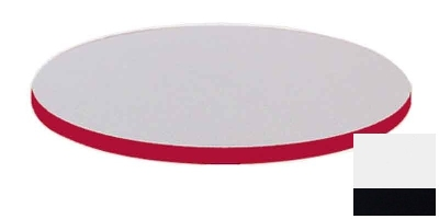 "Correll CT24R 26 24"" Round Cafe Breakroom Table Top, 1.25"" High Pressure, White"