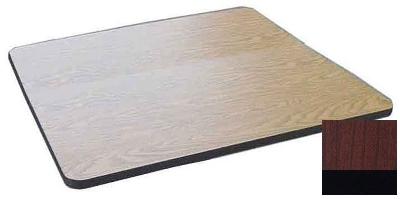 "Correll CT30S 21 30"" Square Cafe Breakroom Table Top, 1.25"" High Pressure, Cherry"