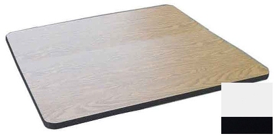 "Correll CT24S 26 24"" Square Cafe Breakroom Table Top, 1.25"" High Pressure, White"