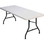 Correll FS3096 Blow-Molded Food Service Folding Table w/ Steel Frame, 30 x 96-in, Gray Granite