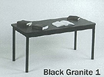 "Correll LR2472 07 Economical Library Table Wear Resistant Surface T Mold Edge 24x72"" Black Granite"