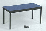 "Correll LR3060 37 Economical Library Table w/ Wear Resistant Surface & T Mold Edge, 30x60"", Blue"