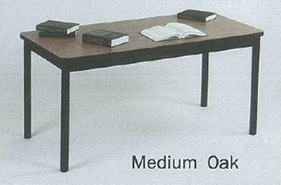 "Correll LT3060 06 Economical Lab Table w/ Wear Resistant Surface & T Mold Edge 30x60"" Medium Oak"