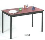 "Correll LR2448 35 Economical Library Table w/ Wear Resistant Surface & T Mold Edge, 24x48"", Red"