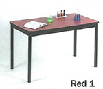 "Correll LT3048 35 Economical Lab Table w/ Wear Resistant Surface & T Mold Edge, 30x48"", Red"