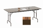 "Correll PC1860P 06 Solid Plywood Core Folding Table w/ Premium High-Pressure Top, 18 x 60"", Oak"