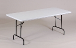 Correll RA2448 24 Folding Table w/ Mocha Plastic Top, Adjustable Height, 24 x 48""