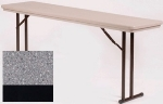 Correll R1872TL 23 Folding Seminar Table w/ Blow-Molded Top & T-Leg, 18 x 72-in, Gray Granite