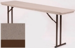 Correll RA1872TL 24 Folding Seminar Table w/ Blow-Mold Top & T-Leg, Adjusts to 32-in, Mocha Granite