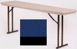 "Correll R3072 27 Folding Seminar Table w/ Blow-Molded Top, 30 x 72"", Blue"