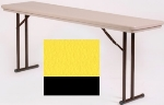 "Correll RA2448 28 Folding Seminar Table w/ Blow-Molded Top, Adjusts To 32"" H, 24 x 48"", Yellow"