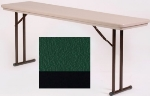 "Correll RA3060 29 Folding Seminar Table w/ Blow-Molded Top, Adjusts To 32"" H, 30 x 60"", Green"