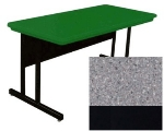 "Correll RCS3072 15 26"" Computer Training Table w/ Blow-Molded Top, 30 x 72"", Gray Granite"