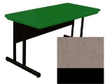 Correll RCS2448 24 26-in Computer Training Table w/ Blow-Molded Top, 24 x 48-in, Mocha Granite