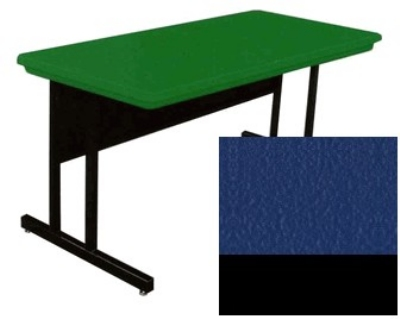 "Correll RCS3072 27 26"" Computer Training Table w/ Blow-Molded Top, 30 x 72"", Blue"