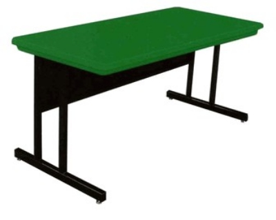 Correll RCS2448 29 26-in Computer Training Table w/ Blow-Molded Top, 24 x 48-in, Green