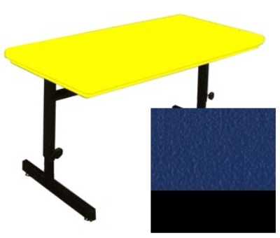 "Correll RCSA3072 27 Computer Training Table w/ Blow-Molded Top, Adjusts to 29"", 30 x 72"", Blue"