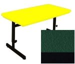 "Correll RCSA2448 29 Computer Training Table w/ Blow-Molded Top, Adjusts to 29"", 24 x 48"", Green"