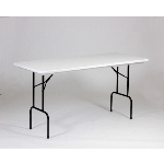 "Correll RS3072-AM23 Anti-Microbial Blow-Molded Table, 36"" H, 30 x 72"", Gray Granite/Black"