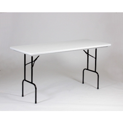 Correll RS3072-AM23 Anti-Microbial Blow-Molded Table, 36-in H, 30 x 72-in, Gray Granite/Black