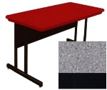 "Correll RWS2448 15 29"" Computer Training Table w/ Blow-Molded Top, 24 x 48"", Gray Granite"