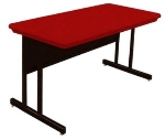 "Correll RWS3060 25 29"" Computer Training Table w/ Blow-Molded Top, 30 x 60"", Red"