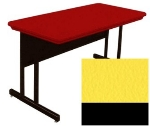 "Correll RWS3060 28 29"" Computer Training Table w/ Blow-Molded Top, 30 x 60"", Yellow"